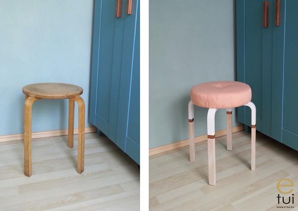 Metamorfoza stołka Ikea